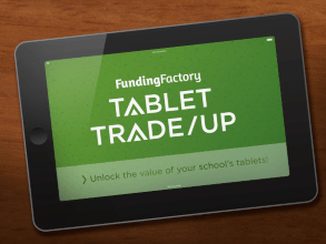 Large volume tablet buyback sales with FundingFactory's Tablet Trade-Up